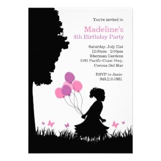 Kids Butterfly Birthday Party Invitation