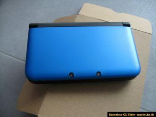 Nintendo 3DS XL (Aktuellstes Modell) Blau Schwarz Bundle FIFA 13 Mario