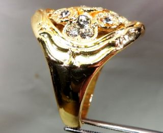 10 kt/466° GELB GOLD FILLED RING DIAMANT GLANZ 13,22 gr