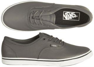 Vans Authentic Lo Pro leather grey grau alle Größen