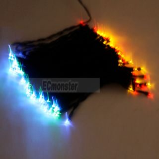 Colorful 12M 100 LED Solar Neon Light RGB String Lamp Festival Decor