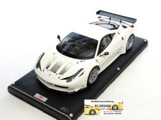 FERRARI 458 Italia GT2 Bianco Avus weiss 118 MR Models FE05D 118 MR