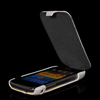 Carbon Leder Tasche Flip Case Hülle Etui Schale für Samsung S6500