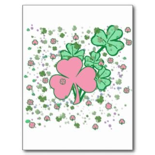Feminine for St Patricks Day Postcard