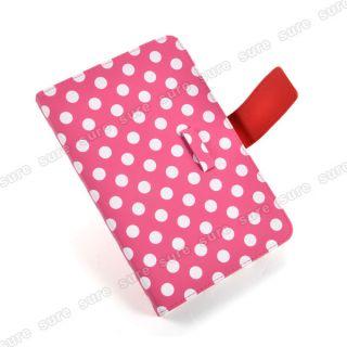 Pink Kunstleder Tasche Case Cover f. 7 Epad Apad ANDROID Tablet PC