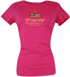 POLO JEANS COMPANY RALPH LAUREN Damen Long Shirt Shanley Logo Pink