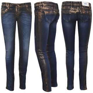 Baxx Sexy Damen Jeans Hose mit Leopard Design CBW 482 Women Cipo Jeans