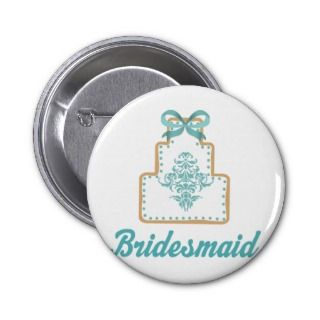 Bridesmaid Wedding Cake Cookie Bridal Gift Pin