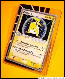 Pokemon Karte Raichu ex aus EX Sandsturm 98/100 100 KP Silver Star