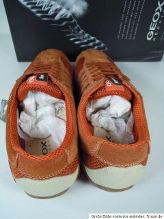 Geox U2210W 01422 C7007Snake Sneaker Orange Herren Sport Schuhe Gr.42