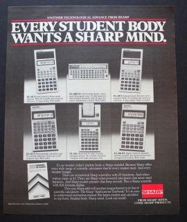 1983 Sharp EL 515 T, EL 5100 ST, EL 510 T etc. student Calculator
