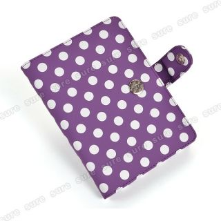 Polka Dot Leder Tasche Case Cover f. kindle Touch Etui Hülle