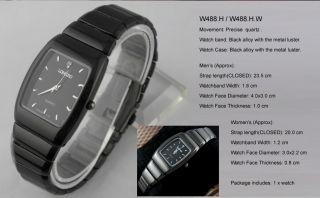 New Trendy Black Alloy Steel Mens Boys Wrist Watch Quartz Sports