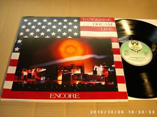TANGERINE DREAM   ENCORE   LIVE   2 LPs   VIRGIN 25 495 XBT
