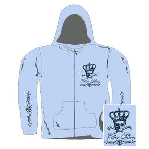 Killer Queen Girl Kapuzensweater   Gr L  Black Crown (21658)