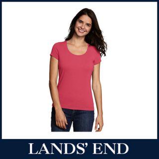 LANDS END Damen T Shirt Shirt Kurzarm Rundhals *Sale*