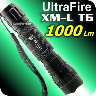 1000 Lumens CREE XM L T6 LED 18650 Flashlight Torch 501