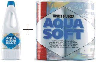Aqua Kem Blue 2 Liter+Soft Toilettenpapier Thetford Camping Sanitär
