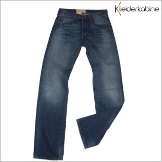 Levis 501 Herren Straight Leg Jeans Button Fly 07.17
