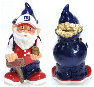Gartenzwerg,Spardose NFL New York Giants,28 cm,Fehler