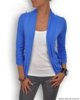 Damen Cardigan Poncho Strickjacke Jacke Boyfriend Bolero Blazer S 34 M