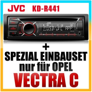 JVC KFZ/Auto  USB Radio+Adapter SET für OPEL Vectra C