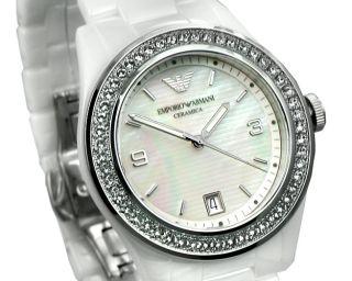 AR1426 Damenuhr Ceramica weiß Damen Uhr Keramik UVP 499, *