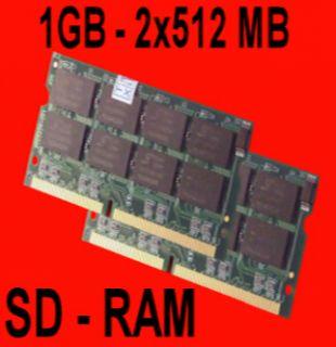1GB   2x 512MB SDRAM SODIMM PC133 1024MB 133 MHz Laptop Notebook