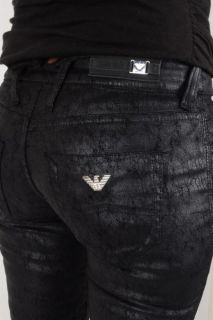 Hosen Armani Jeans Damen SCHWARZ Ecoleder J40LM Gr.25 26 27 28 29 30