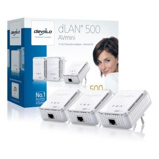 Devolo dLAN 500 AV mini 3 Adapter Network Kit 500MBit