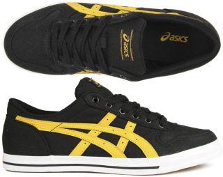 Asics Schuhe Aaron CV black/yellow schwarz/gelb (Mexico) 41 42 43 44