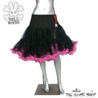 Hell Bunny Petticoat   Schwarz Pink