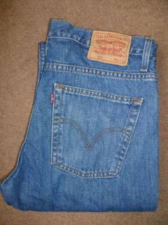 LEVIS 507 JEANS VINTAGE ULTIMATE BOOT CUT W34 L32 MID BLUE LEVL995