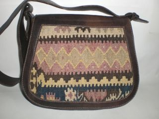 Vintage Kilim Saddle Tasche Bag Leder Messenger Gipsy Bag Hippie boho