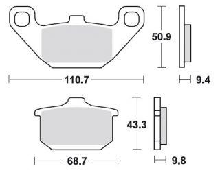 Bremsbeläge LF Kawasaki GPZ 1000 RX MCB532LF