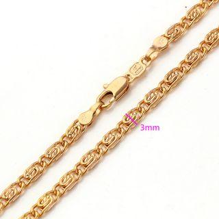 LUXUS Goldschmuck Schmuck 18K Gold Plated Solide Halskette Ketten Neu