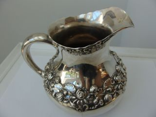 Antique Sterling Silver Gorham Lily Water Pitcher