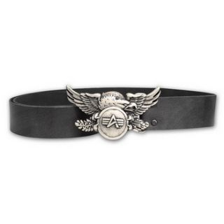 Alpha Industries Eagle Belt Buckle Gürtel Leder Gürtelschnalle 90 95