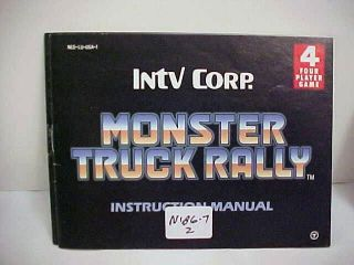 NINTENDO MONSTER TRUCK RALLY  INSTRUCTIONS NIB6007