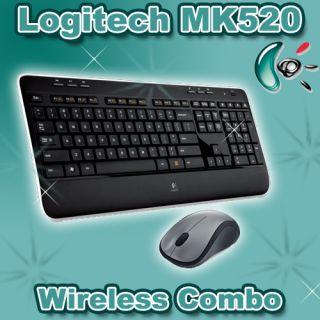 Logitech Wireless Desktop MK520 Tastatur & Maus Set NEU