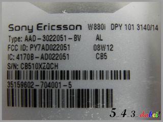 Sony Ericsson Walkman W880i Steel Silver Ohne Simlock Handy Smartphone