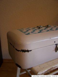 Emaille brotkasten bread box arte deco aus frankreich 1930 um Shabby