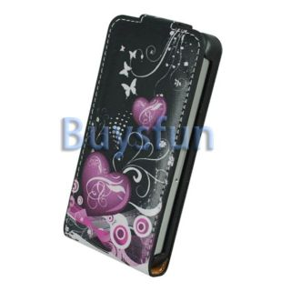 New Heart Flip Leather Cover Case Skin For Apple iPhone 4 4G 4S