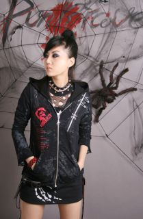 fashion Visual Kei Unisex Punk Gothic Nana ROCK top shirt coat S M L