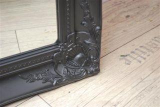 Wandspiegel Spiegel barock antik Schwarz matt 150 x 60 cm