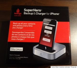 iomega Super Hero Backup & Charger iPhone iPod Ladestation Speicher