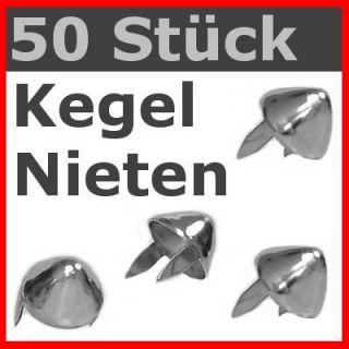 50 Stück  KEGEL Nieten  Gothic Punk Metal Biker Rock