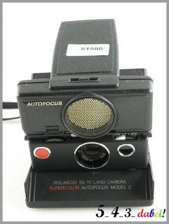 POLAROID SX 70 Land Camera Model 2 Kamera Sofortbildkamera SCHWARZ
