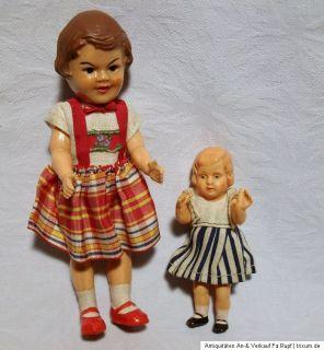 Uralt Konvolut Celluloid Puppe für Puppenstube Minerva um 1930 50