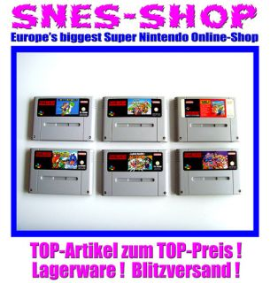 Set Super Nintendo SNES Super Mario World + Kart + All Stars + Yoshi